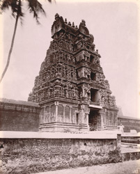 View of rear gopura of the Nageshvara Temple, Kumbakonam
